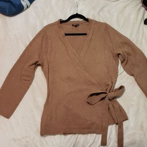J CREW Wrap Cardigan (brown/tan)